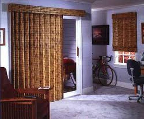 Бамбуковые шторы на дверь
