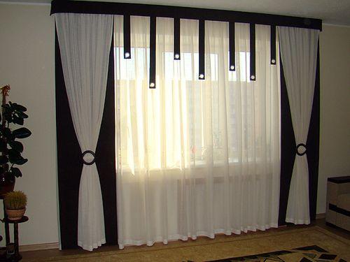 Выбираем черно-белые шторы