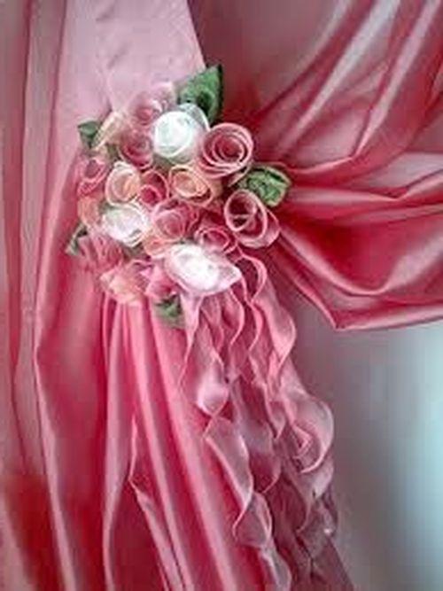 Цветы к шторам мастер класс