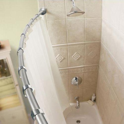 Виды карнизов для ванных комнат: фото