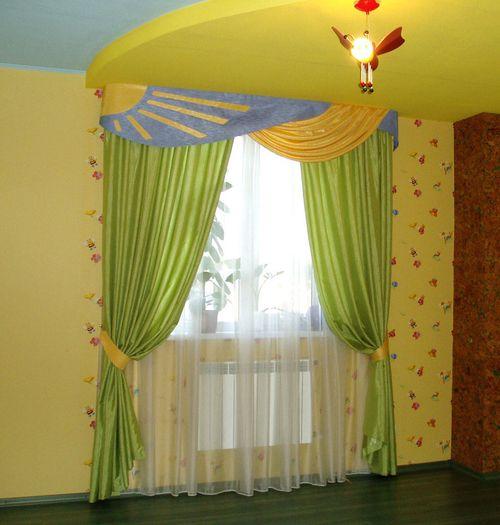 Гардины в интерьере детской комнаты