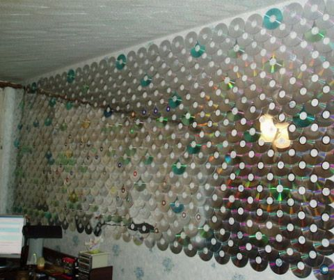 Делаем модные шторы из дисков своими руками: фото и видео