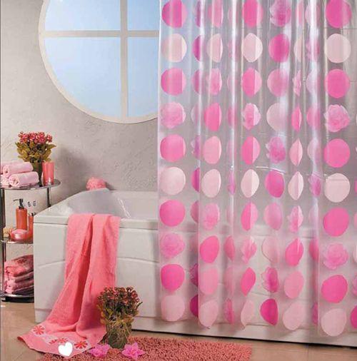 Современные шторы для ванной Spirella