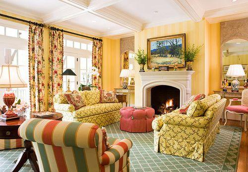 Сочетание цвета штор с желтыми обоями фото идеи