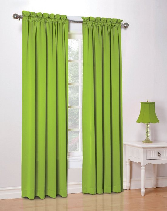 Curtains green