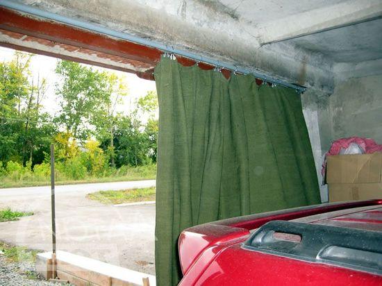 Шторы на ворота в гараж своими руками