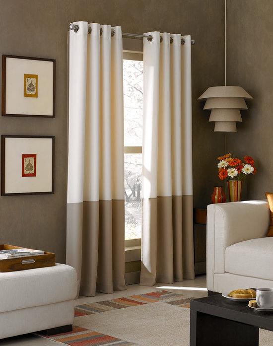 Шторы для гостиной двухцветные фото