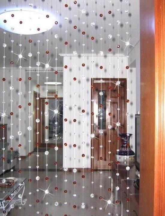 Шторы из стекляруса в квартире