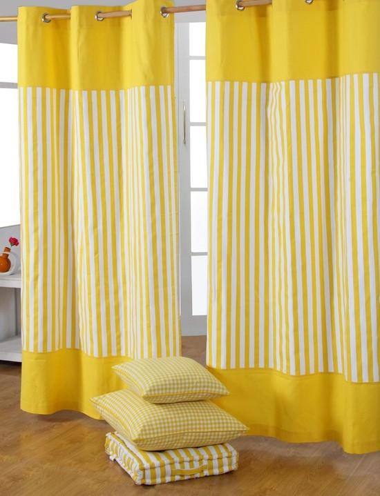 Занавески жёлтого цвета
