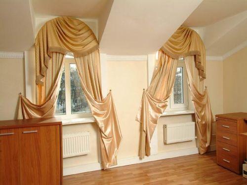 шторы на арочные окна_10