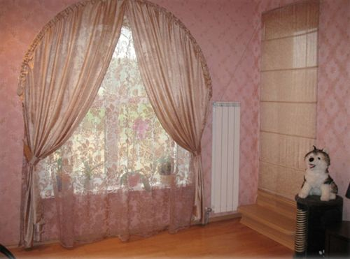шторы на арочные окна_11