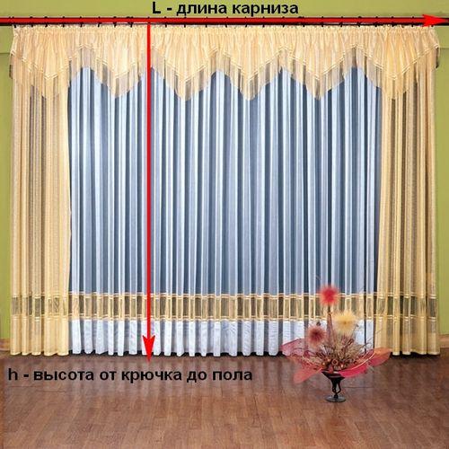 Как рассчитать количество ткани на шторы