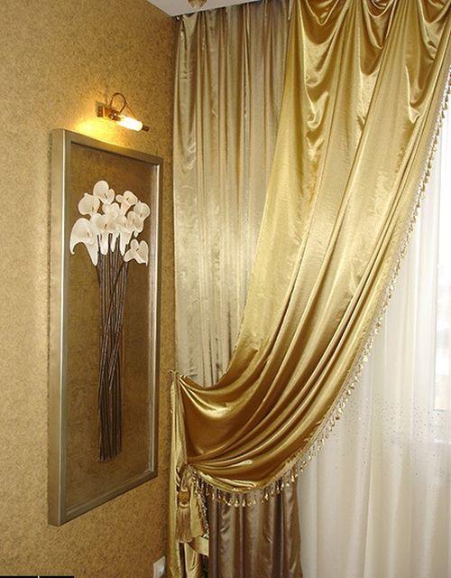 Выбираем золотые шторы