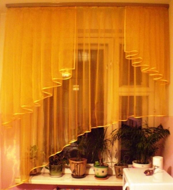 Как самому сделать шторы на кухне