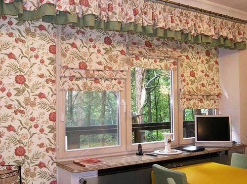 Выбираем римские шторы из обоев