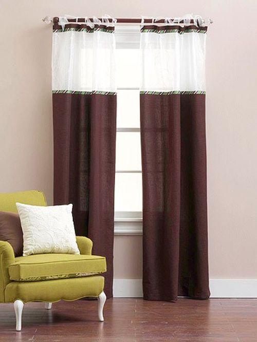 Как сшить шторы из разных цветов ткани